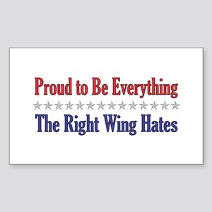Everything They Hate Rectangle Sticker