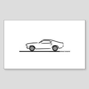 1969 Mustang Fastback Sticker (Rectangle)