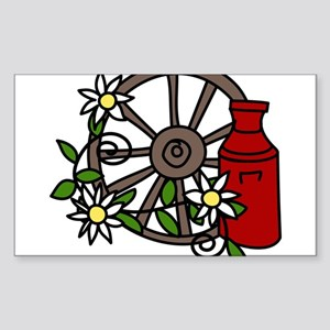 Wagon Wheel Sticker (Rectangle)