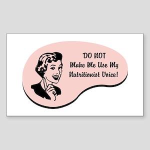 Nutritionist Voice Rectangle Sticker