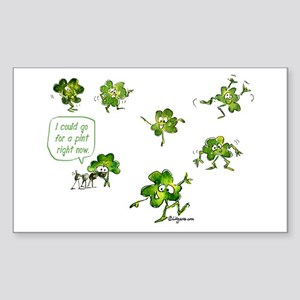 Dancing Shamrocks Rectangle Sticker