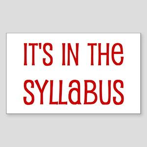 syllabus Sticker (Rectangle)