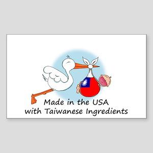 Stork Baby Taiwan USA Sticker (Rectangle)