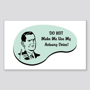 Actuary Voice Rectangle Sticker