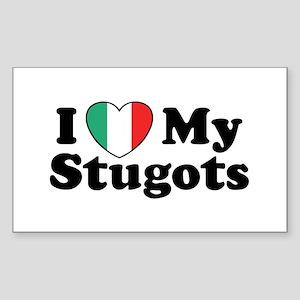 I Love My Stugots Rectangle Sticker
