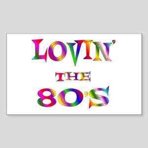 80's Rectangle Sticker