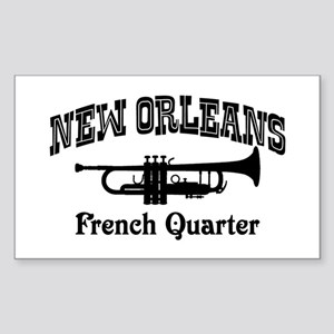 New Orleans French Quarter Sticker (Rectangle)