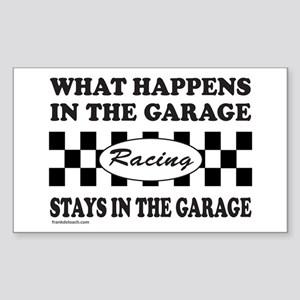 AUTO RACING Rectangle Sticker
