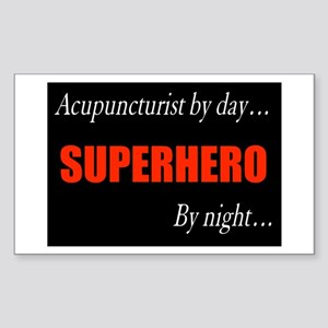 Superhero Acupuncturist Gift Rectangle Sticker