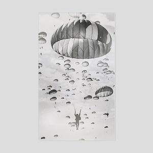 Vintage Paratrooper Sticker (Rectangle)