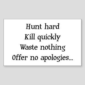 Hunt Hard Rectangle Sticker