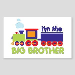 train big brother t-shirts Rectangle Sticker