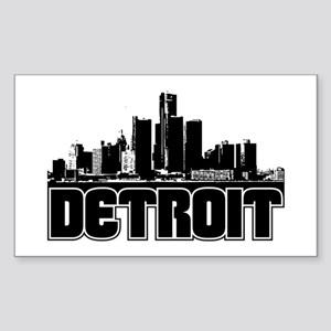 Detroit Skyline Sticker (Rectangle)