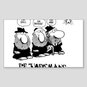 The 3 Weisman Sticker (Rectangle)