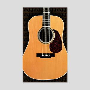 acoustic-guitar-framed panel p Sticker (Rectangle)