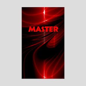 bondage black and red Master Sticker (Rectangle)