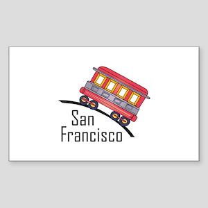 san francisco trolley Sticker