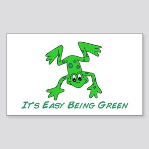 Frog It's Easy Sticker (Rectangle)