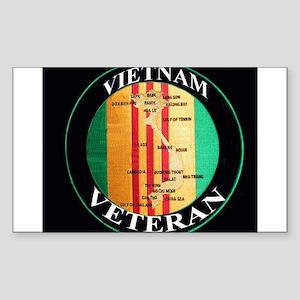 vietnam veteran Sticker (Rectangle)