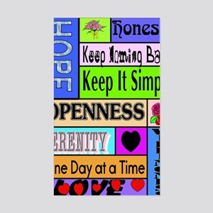 12 step sayings Sticker (Rectangle)