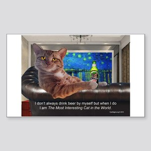 Most Interesting Cat Sticker (Rectangle)