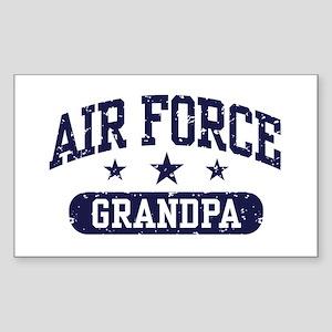 Air Force Grandpa Sticker (Rectangle)