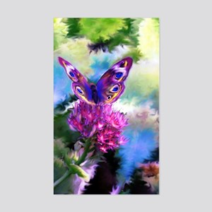 Colorful Abstract Butterfly Sticker (Rectangle)