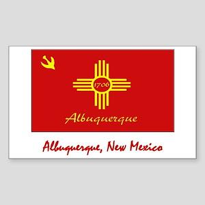 Albuquerque NM Flag Rectangle Sticker
