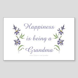 Happy Grandma Rectangle Sticker