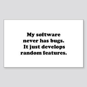 My Software has no Bugs Rectangle Sticker
