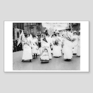 Suffragettes Sticker (Rectangle)