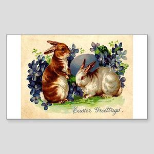 """""""Easter Bunnies"""" Rectangle Sticker"""