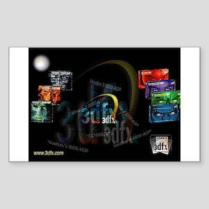 3dfx video cards Sticker (Rectangle)
