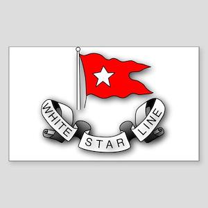 White Star Line Sticker (Rectangle)