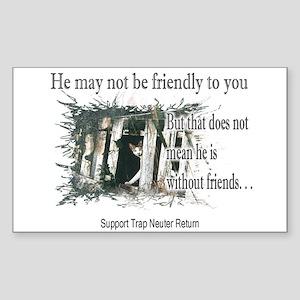 Feral Friend non affiliated Rectangle Sticker