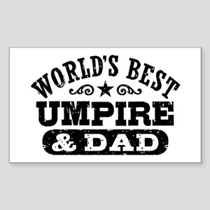 World's Best Umpire and Dad, Sticker (Rectangle)