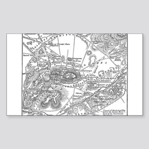 Ancient Athens Map Sticker (Rectangle)