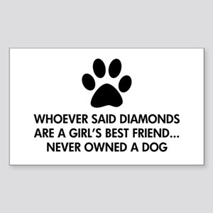 Girl's Best Friend Dog Sticker (Rectangle)