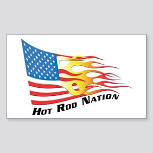 Nation Flag Rectangle Sticker