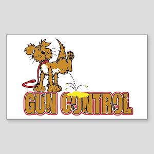 Piss on Gun Control Sticker (Rectangle)