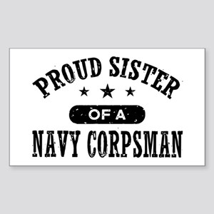 Proud Sister of a Navy Corpsman Sticker (Rectangle