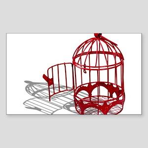 Bird House Sticker (Rectangle)