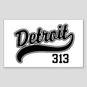 Detroit 313 Rectangle Sticker