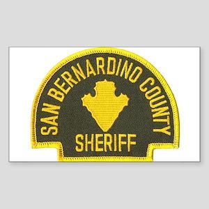 San Bernardino Sheriff Rectangle Sticker