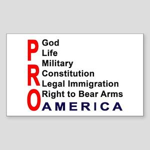 Pro America Sticker (Rectangle)