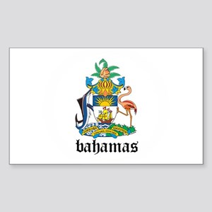 Bahamian Coat of Arms Seal Rectangle Sticker