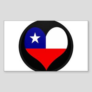 I love Chile Flag Rectangle Sticker