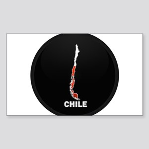 Flag Map of Chile Rectangle Sticker