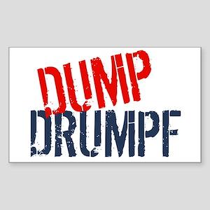 Dump Drumpf Sticker (Rectangle)