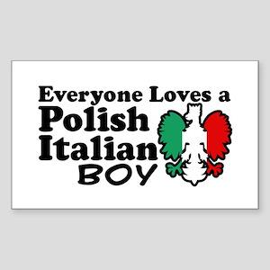Polish Italian Boy Rectangle Sticker